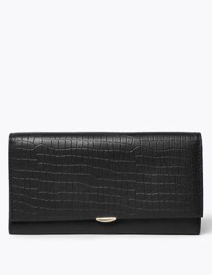 Leather Croc Effect Cardsafe™ Purse