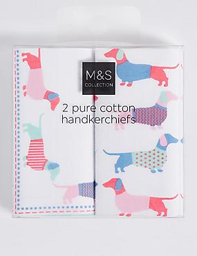 Pure Cotton Handkerchiefs, WHITE MIX, catlanding