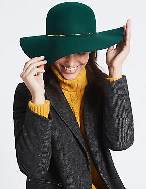 Pure Wool Floppy Winter Hat with Thinsulate™, TEAL, catlanding