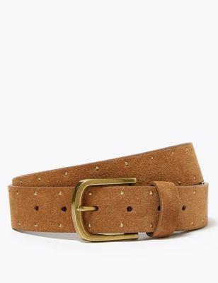 Leather Nubuck Jean Belt
