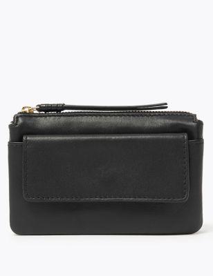 Leather Zip Around Travel Wallet