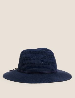 Cotton Packable Fedora Hat