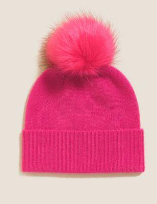 Pure Cashmere Pom Hat