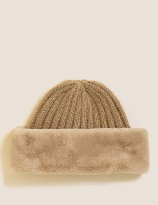 Faux Fur Knitted Cossack