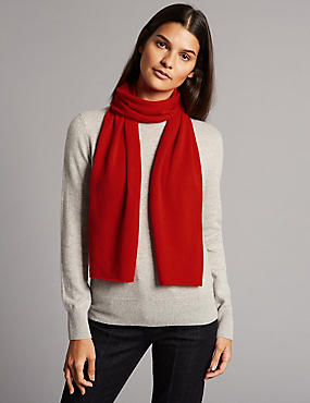 Pure Cashmere Scarf, POPPY, catlanding