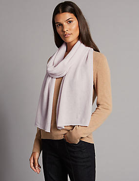Pure Cashmere Scarf, PINK, catlanding