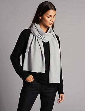 Pure Cashmere Scarf, GREY, catlanding