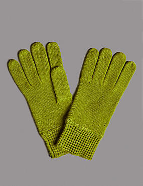 Pure Cashmere Gloves, LIME, catlanding