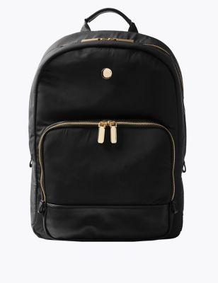 Double Zip Detail Backpack