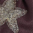 Star Print Scarf, BURGUNDY, swatch