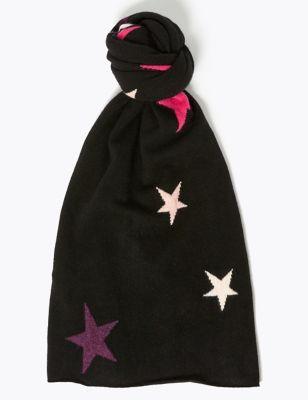 Pure Cashmere Star Scarf