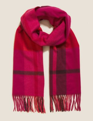 Pure Cashmere Woven Checked Scarf
