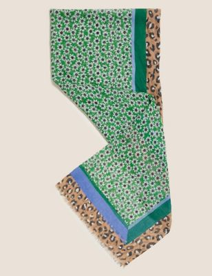 Printed Floral Scarf