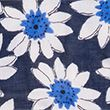 Floral Scarf with Modal - navymix