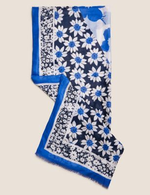 Floral Scarf with Modal