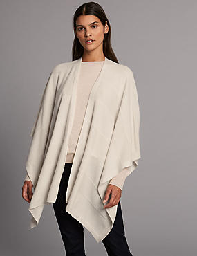 Pure Cashmere Stitch Wrap , CREAM, catlanding