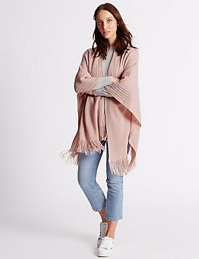 Knitted Wrap, PINK, catlanding