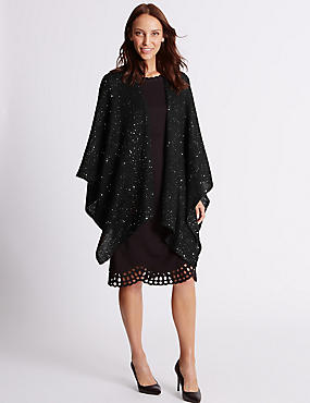 Sequin Wrap, BLACK, catlanding