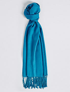 Modal Rich Pashminetta Scarf, BRIGHT TURQUOISE, catlanding