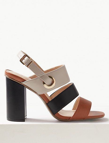 Multi Strap Slingback Sandals