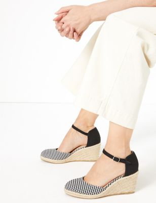 Ankle Strap Wedge Espadrilles