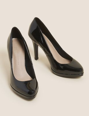 Patent Stiletto Heel Court Shoes