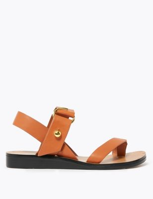 Leather Toe Loop Sandals
