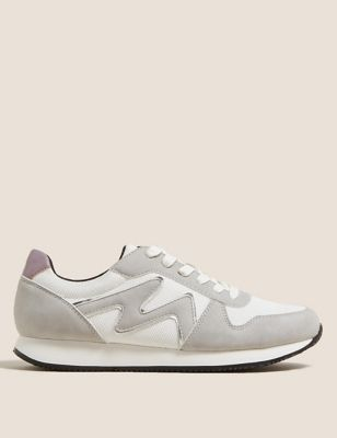 Lace Up Side Detail Trainers