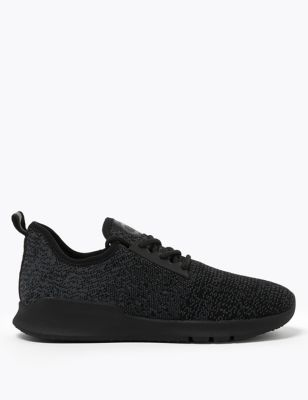 Lace Up Knitted Trainers