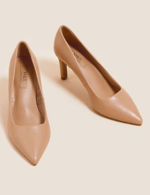 Stiletto Heel Pointed Court Shoes