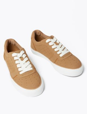 Lace Up Perforated Trainers