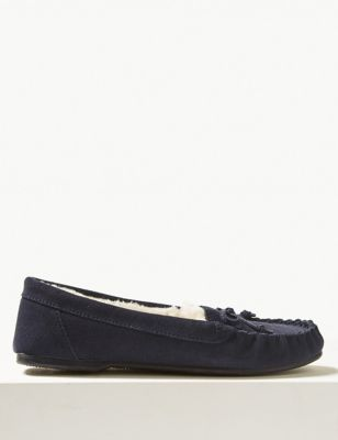 Suede Moccasin Slippers with Freshfeet™