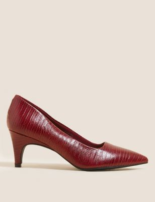 Leather Slip On Pointed Court Shoes