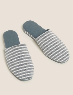 Wedge Square Toe Mule Slippers