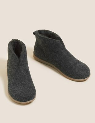 Felt Slipper Boots with Secret Support