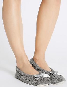 Gem Ballerina Slippers, CHARCOAL, catlanding
