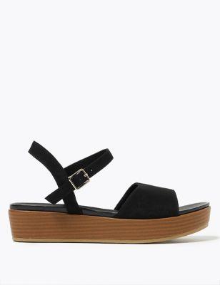 Ankle Strap Flatform Open Toe Sandals