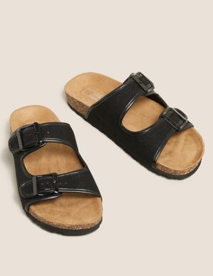 Buckle Flat Footbed Sandals