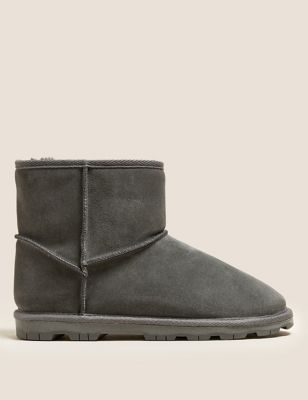 Suede Faux Fur Lining Boots