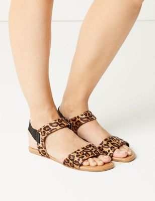 Leopard Print Open Toe Sandals