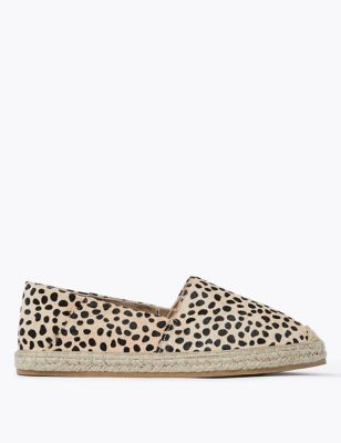 Leather Flatform Espadrilles
