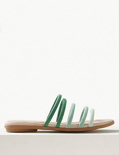 Tubular Strappy Mule Sandals