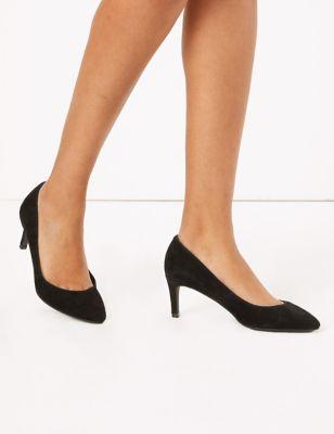 Suede Stiletto Heel Court Shoes