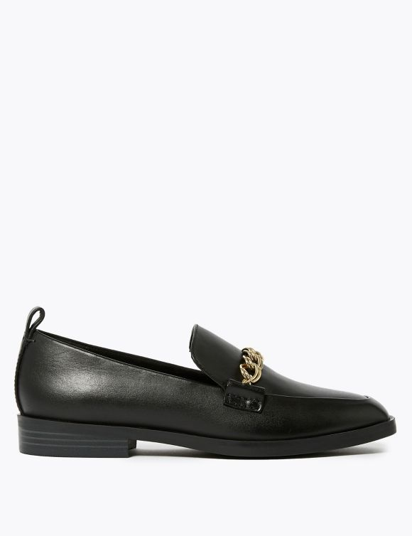 60455904: Leather Square Toe Loafers