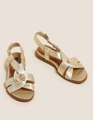 Leather Knot Gladiator Sandals