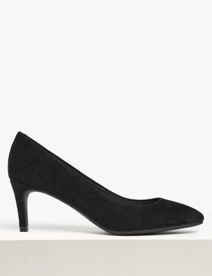 Wide Fit Suede Stiletto Heel Court Shoes
