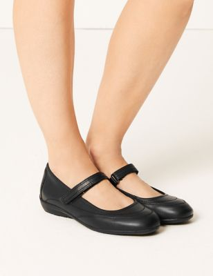 Leather Cut Out Dolly Pumps