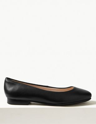 Wide Fit Leather Pumps