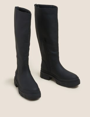 Chunky Cleated Knee High Boots