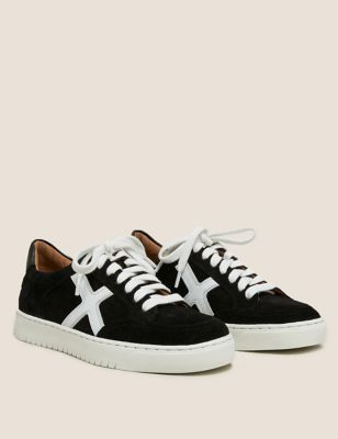 Lace Up Suede Side Detail Trainers